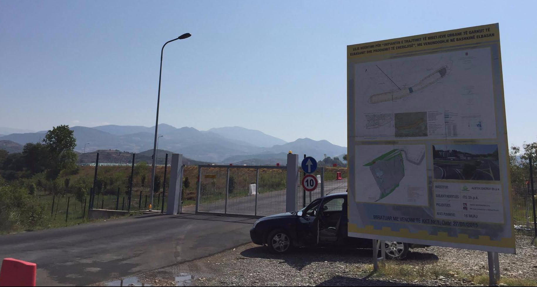Hyrja për në inceneratorin e Elbasanit. Foto: El.Gj / Citizens Channel