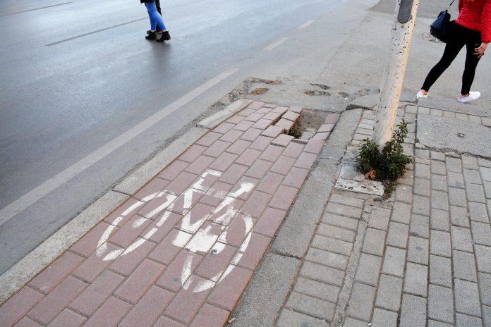 Korsia e biçikletave në rrugën Dritan Hoxha. Foto: S.Manushi/Citizens Channel